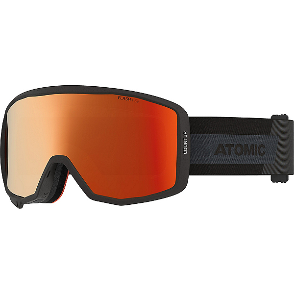 Atomic Count Jr Cylindrical Kids Goggles 2022, Black-Red Flash, 600