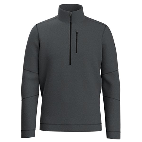 SmartWool Hudson Trail Half Zip Mens Sweater 2022, Dark Charcoal, 600