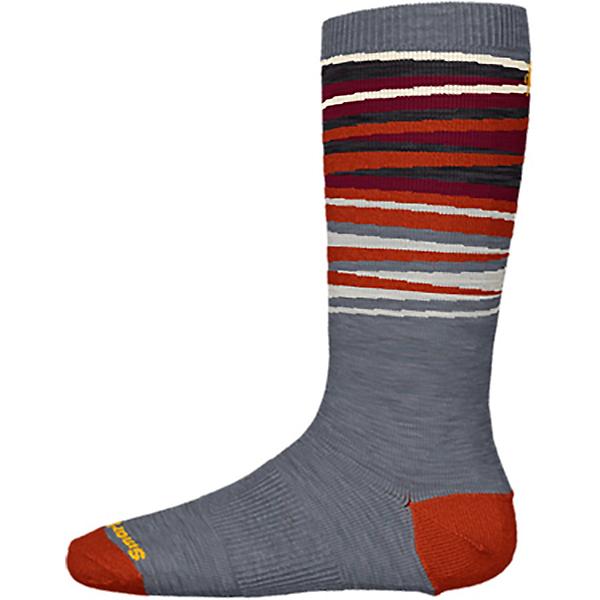 SmartWool Wintersport Stripe Kids Ski Socks 2022, Medium Gray, 600