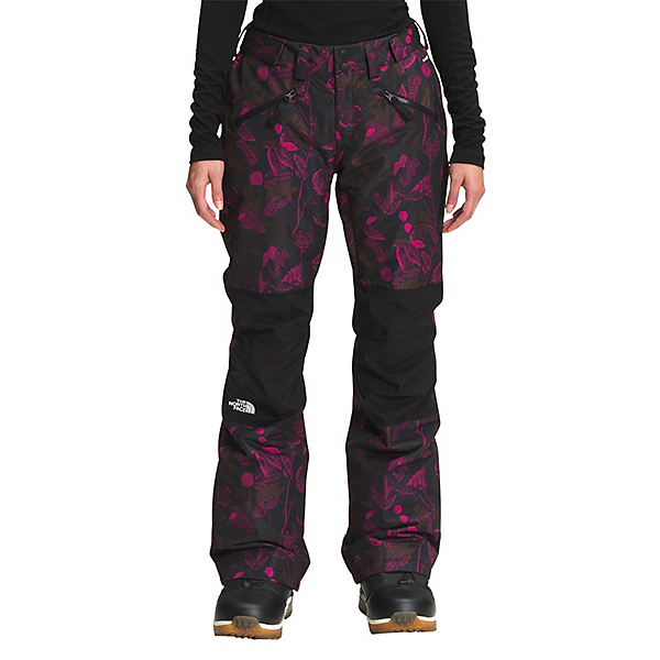 The North Face Aboutaday Womens Ski Pants 2022, Roxbury Pink Halftone Floral Print-TNF Black, 600
