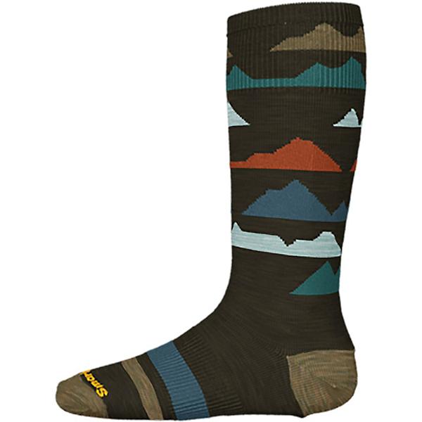 SmartWool Wintersport Mountain Kids Ski Socks 2022, Military Olive, 600