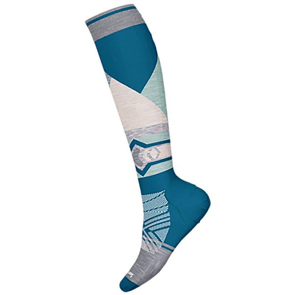 SmartWool PhD Ski Le Pattern Womens Ski Socks 2022, Ocean Abyss, 600
