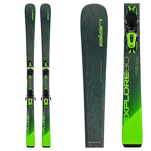 Elan Explore 80 Skis with EL 10 GW Bindings 2022, , 600