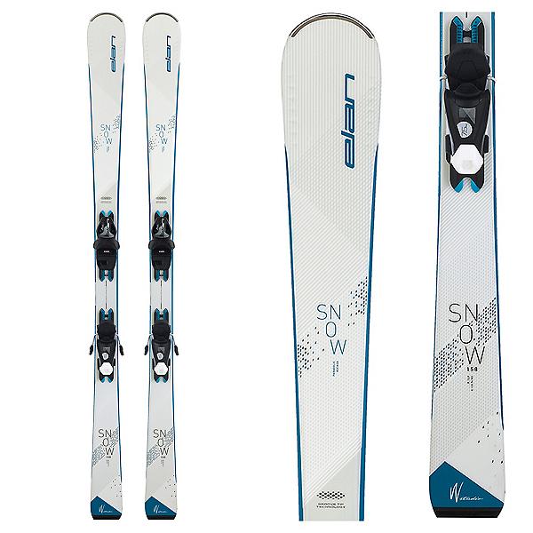Elan Snow White Womens Skis with EL 7.5 GW Bindings 2022, , 600