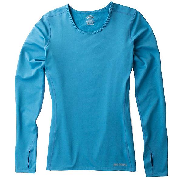 Hot Chillys Micro-Elite Chamois Crewneck Womens Long Underwear Top 2022, Summit Blue, 600