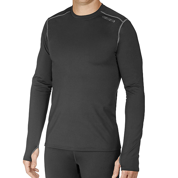 Hot Chillys Micro-Elite Chamois Crewneck Mens Long Underwear Top 2022, Black, 600