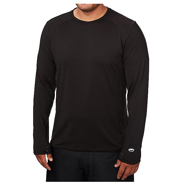 Hot Chillys Clima-Tek Crewneck Mens Long Underwear Top 2022, Black, 600