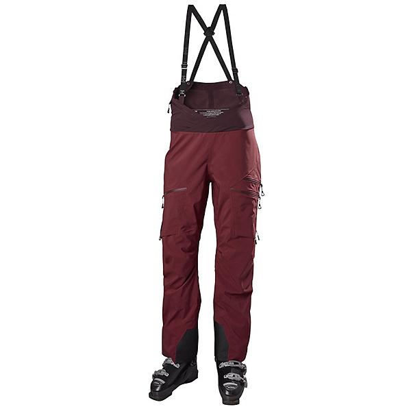 Helly Hansen Odin 3L Shell Bib Womens Ski Pants, Pinot Rose, 600