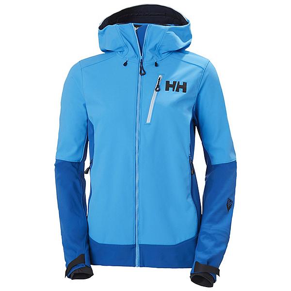 Helly Hansen Odin Mountain Softshell Womens Shell Ski Jacket, Blue Mounta, 600