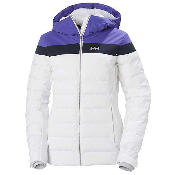 Helly Hansen Imperial Puffy Womens Insulated Ski Jacket, White-Purple, 600