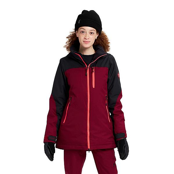 Burton Lelah Womens Insulated Snowboard Jacket 2022, True Black-Mulled Berry, 600