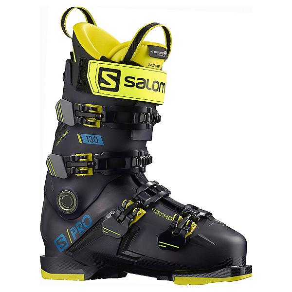 Salomon S/Pro 130 GW Ski Boots 2022, Night Sky-Yellow-Blue, 600