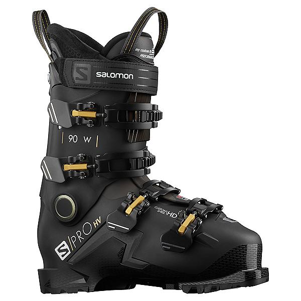 Salomon S/Pro HV 90 GW Ski Boots 2022, Black-Beluga-Golden Claw, 600