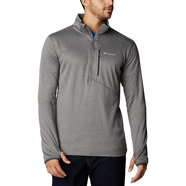 Columbia Park View Fleece Half Zip Mens Mid Layer 2022, City Grey Heather, 600