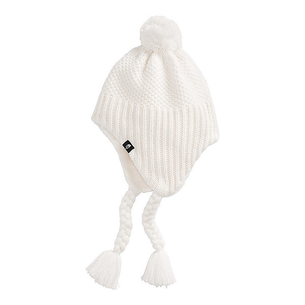 The North Face Purrl Stitch Earflap Kids Hat 2022, Gardenia White, 600
