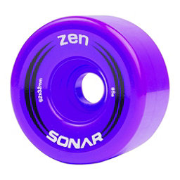 Riedell Zen Roller Skate Wheels - 4 Pack, Purple, 256