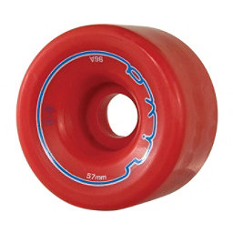 Radar Riva Roller Skate Wheels - 4 Pack, Red, 256