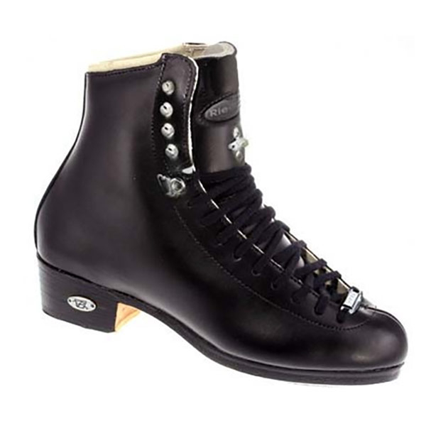 Image of Riedell Black 43J TS Boys Figure Skate Boots