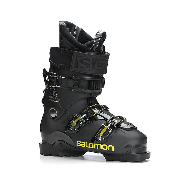 c3d5cb883bf Salomon QST Access Custom Heat Ski Boots 2019, Metallic Black-Black-Acid  Gree